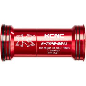 KCNC BB92 Press Fit Adaptador, rojo